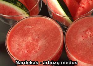 1. Nardekas - arbūzų medus