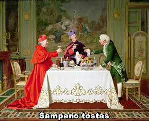 Andrea Landini. Šampano tostas