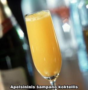 Apelsininis šampano kokteilis