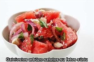 Gaiviosios arbūzo salotos su fetos sūriu